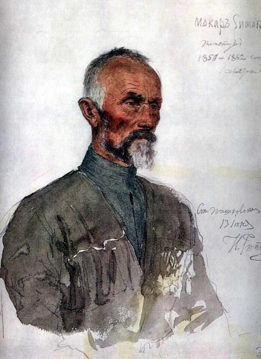Илья Ефимович Репин. Макар Симак (Пластун)
