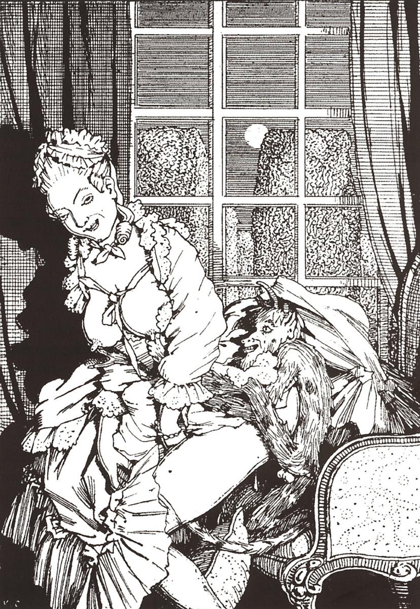 Константин Андреевич Сомов. Книга маркизы. Иллюстрация