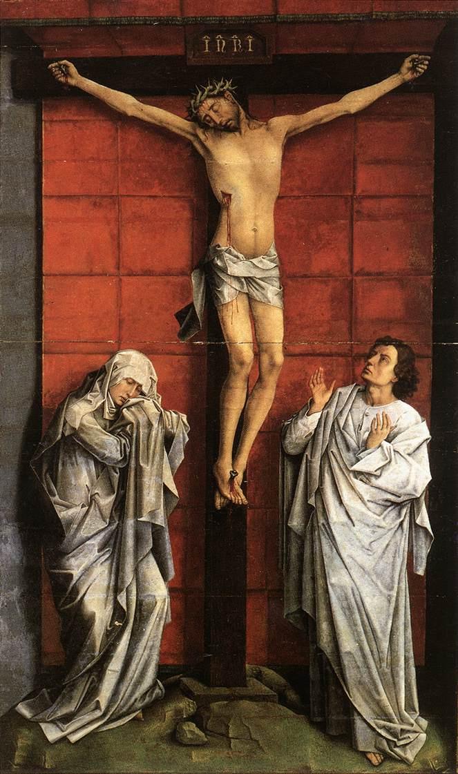 Рогир ван дер Вейден. Христос на кресте с Марией и Святым Иоанном
