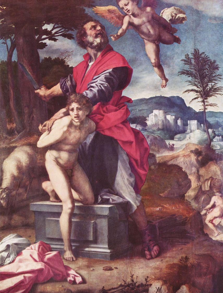 Андреа дель Сарто. Жертвоприношение Авраама