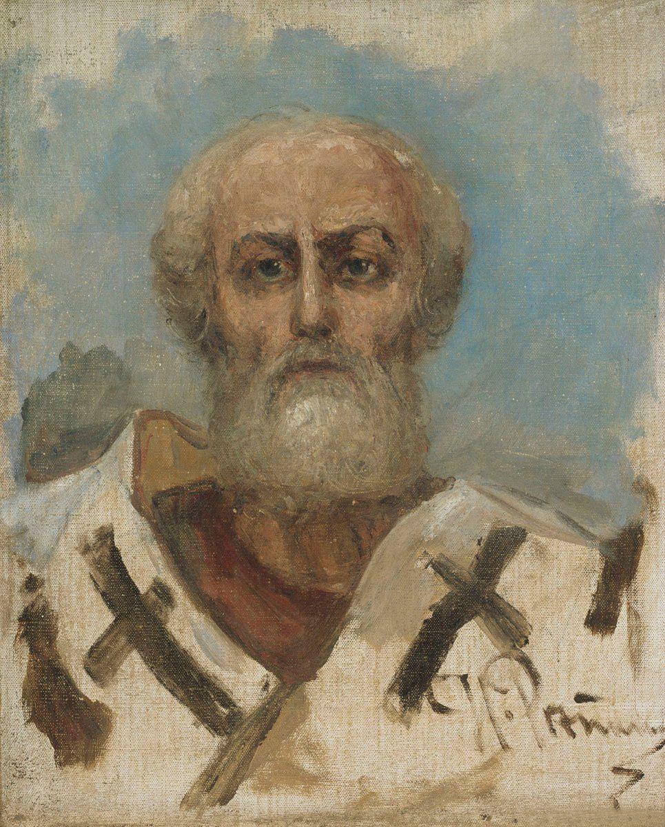 Илья Ефимович Репин. Святой Николай. Эскиз