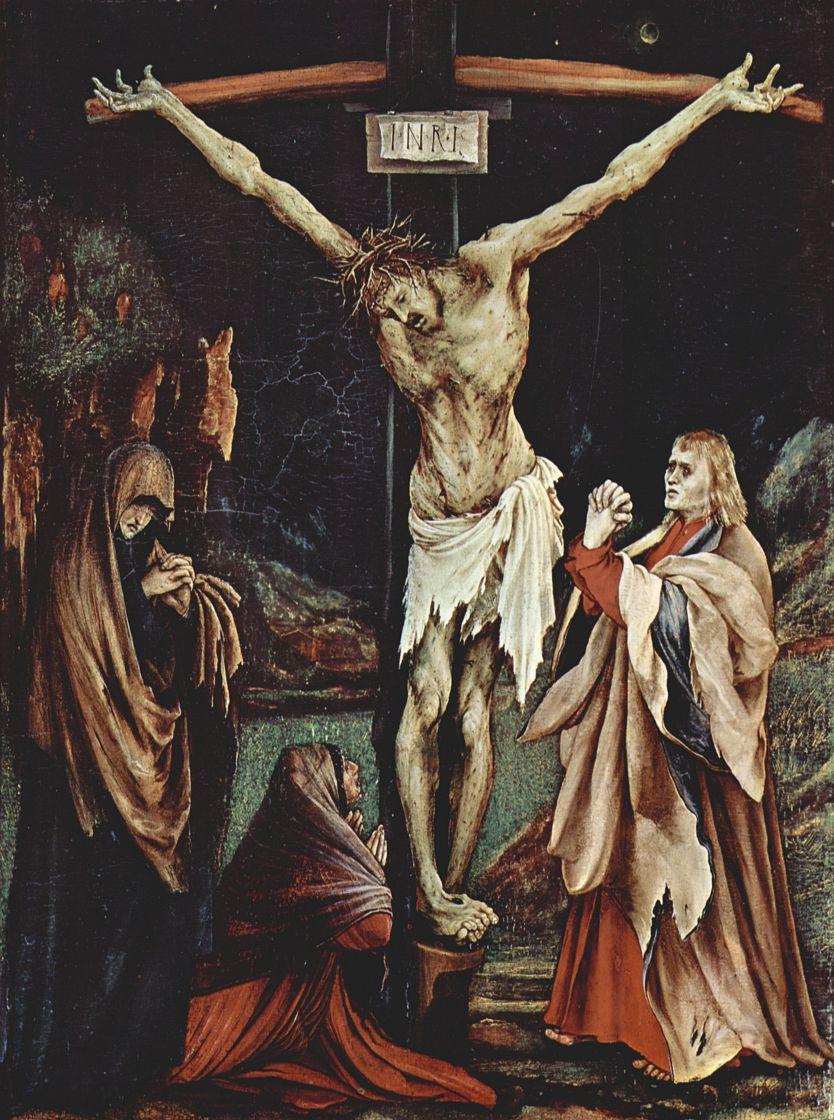 Маттиас Грюневальд. Христос на кресте