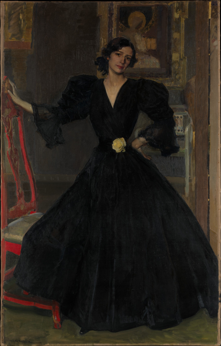 Joaquin Sorolla (Soroya). Señora de Sorolla in black (Clotilde garcía del Castillo)