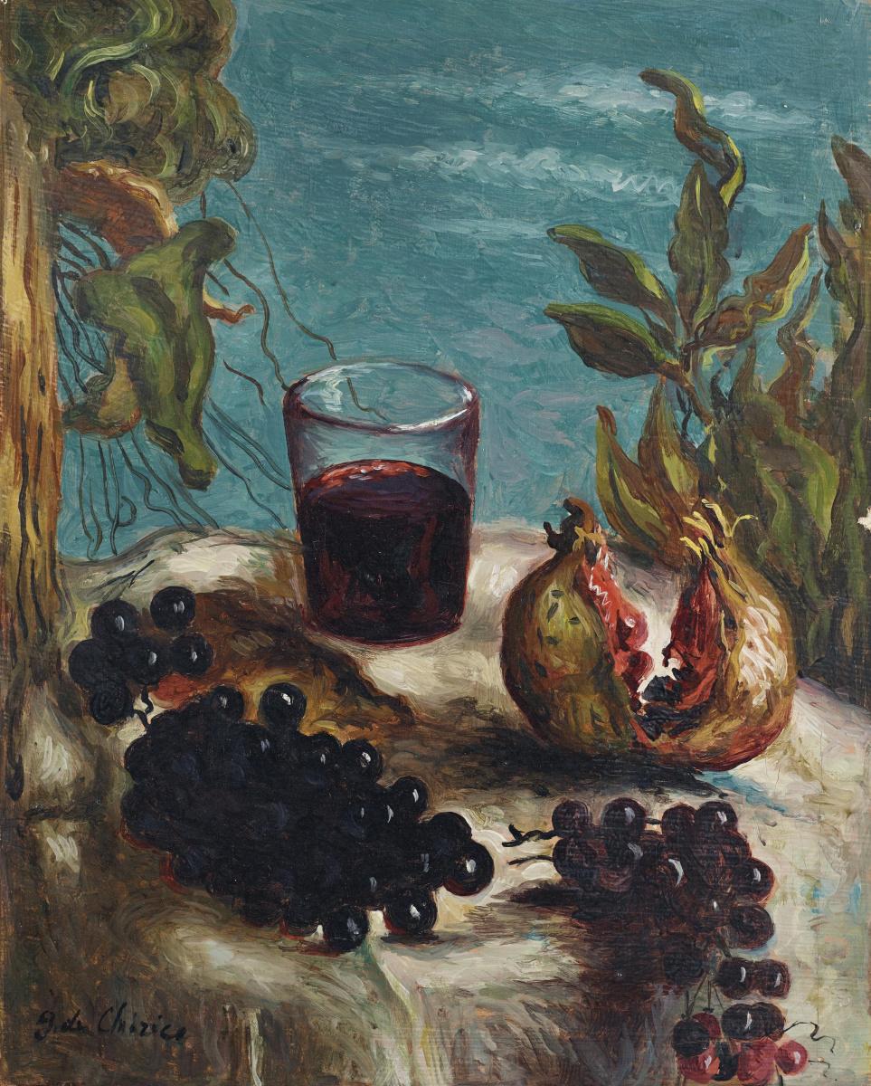 Джорджо де Кирико. Натюрморт с виноградом