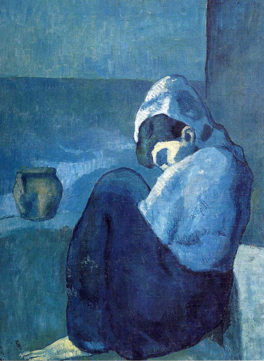 Пабло Пикассо. Женщина на корточках