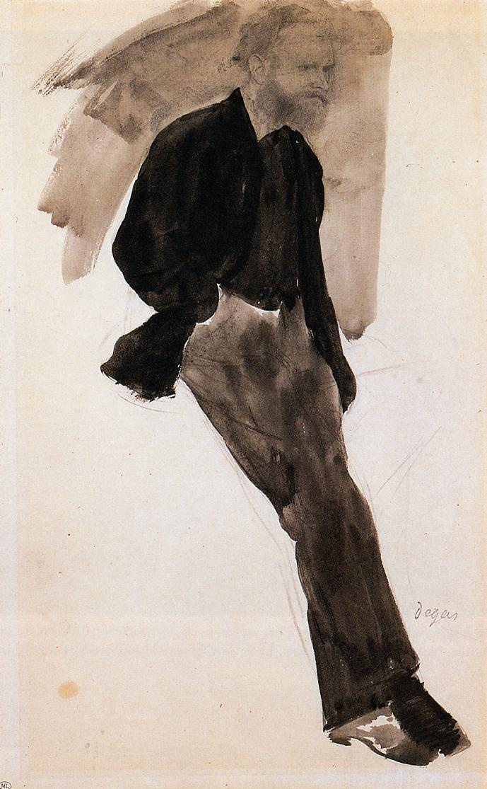 Эдгар Дега. Портрет Эдуарда Мане