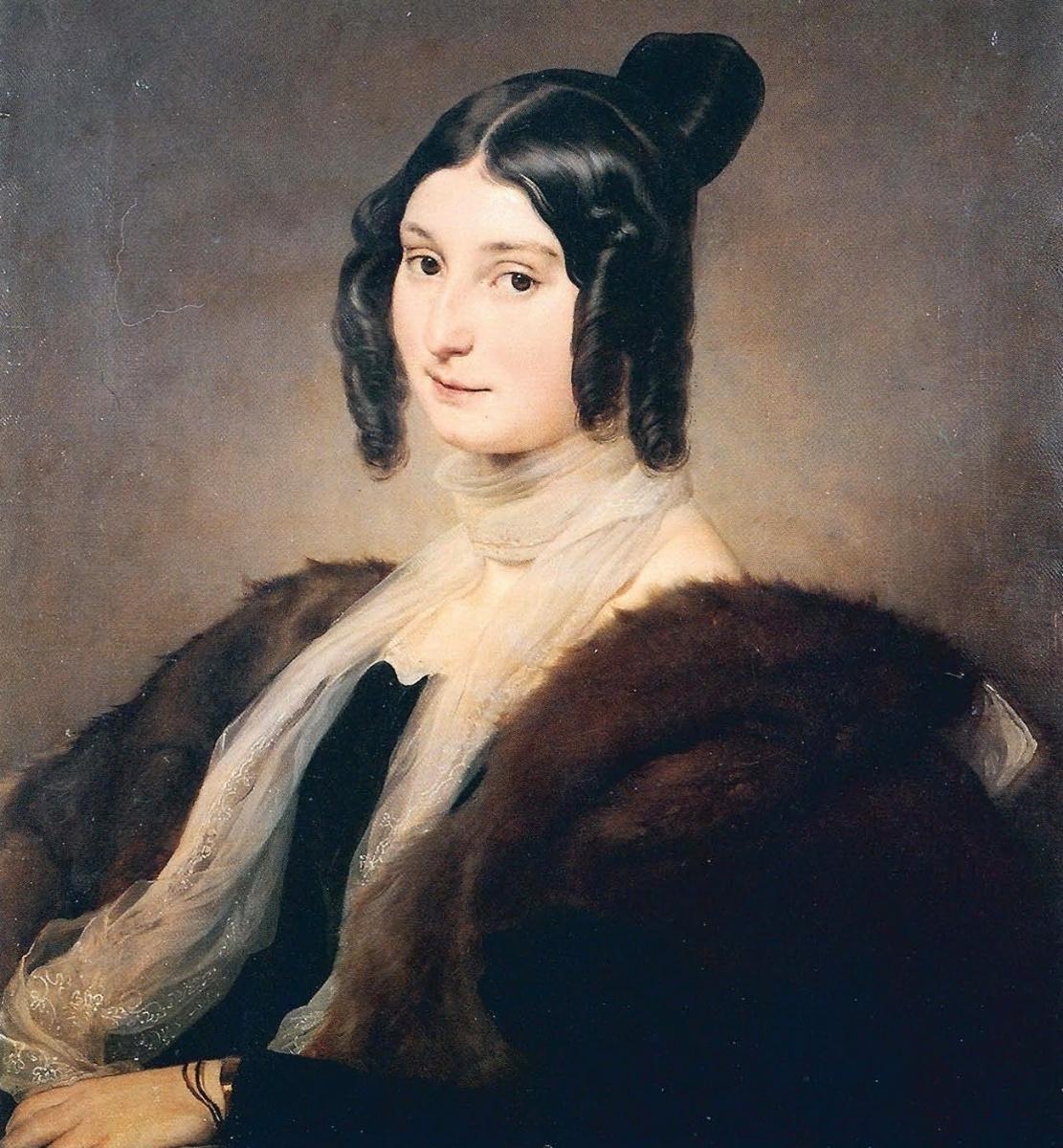 Francesco Ayets. Portrait of Countess Clara Maffei