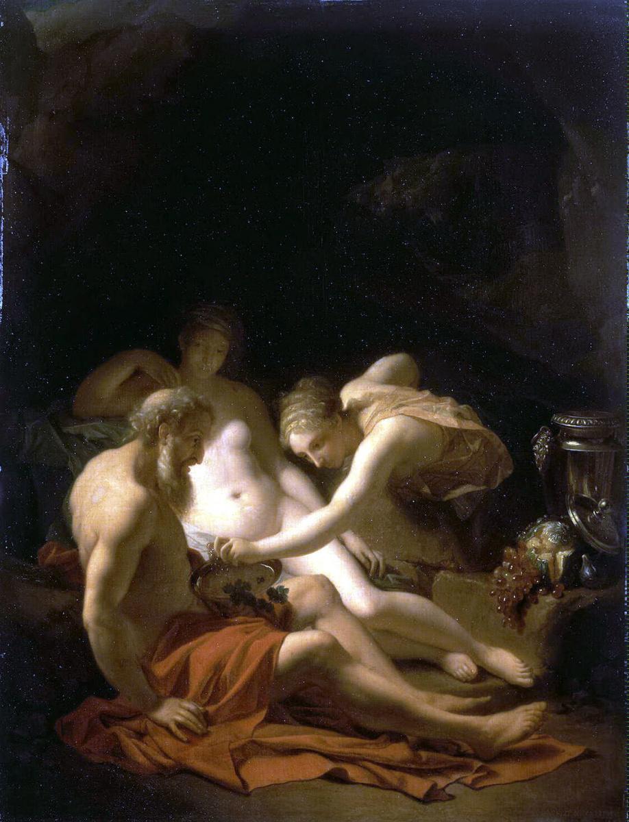Адриан ван дер Верф. Лот с дочерьми