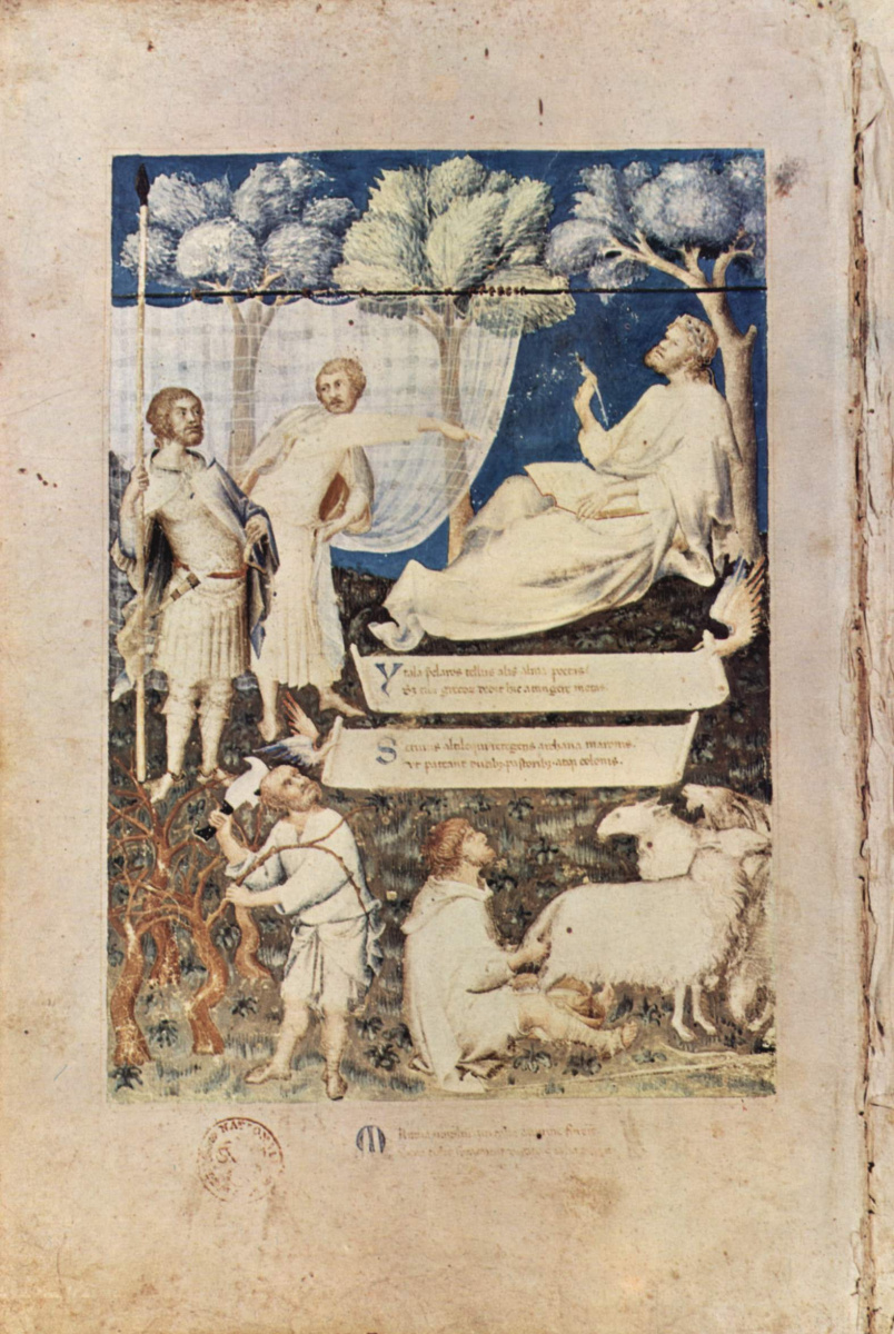 Симоне Мартини. Аллегорический образ Вергилия