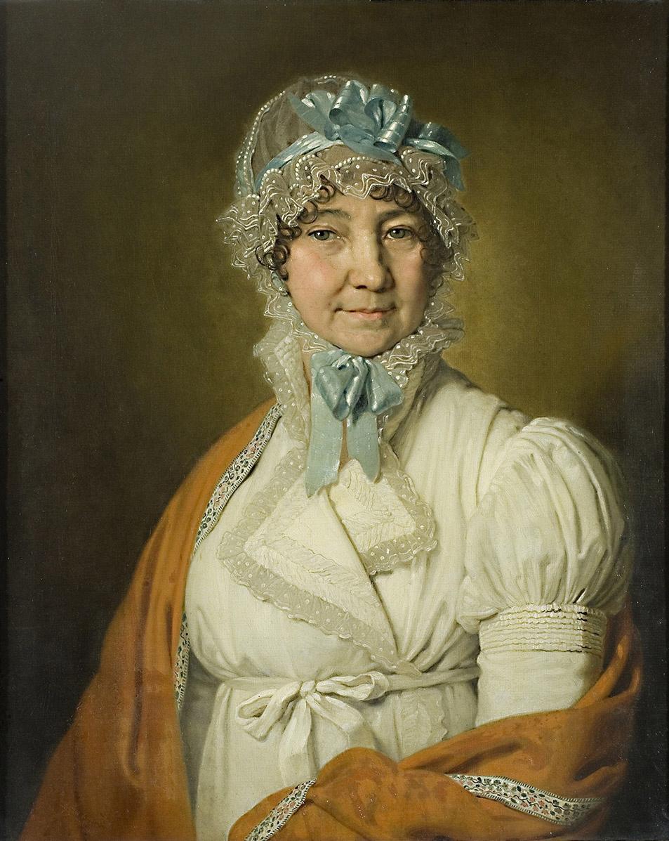 Vladimir Borovikovsky. Portrait of Nadezhda Ivanovna Dubovitskaya, nee Medvedskaya