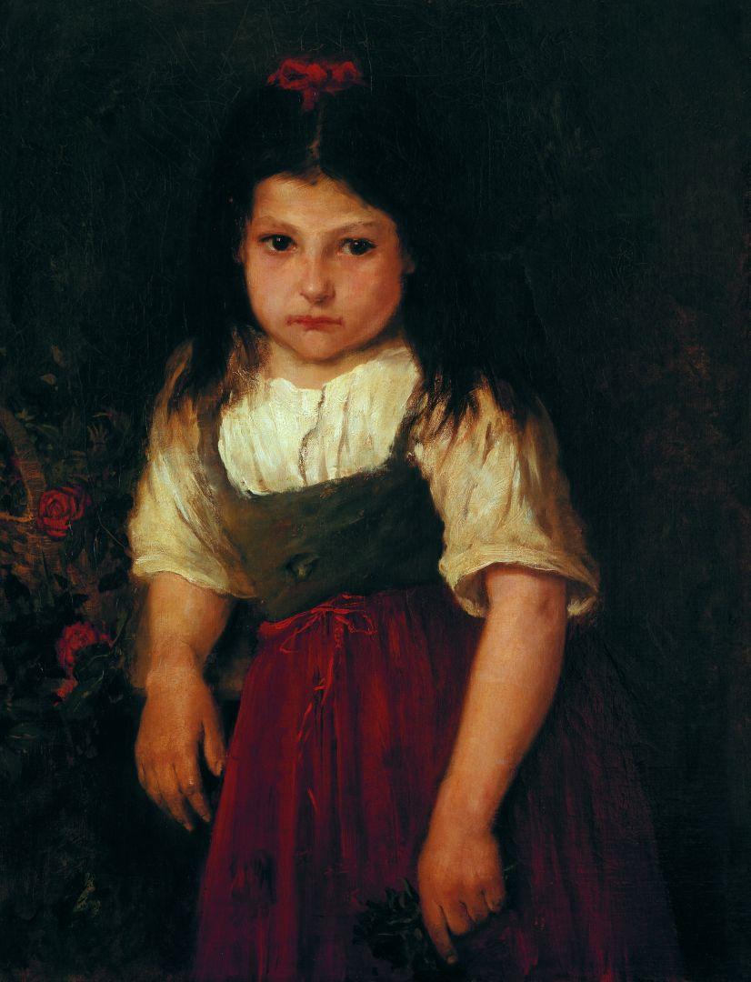 Михай Либ Мункачи. Портрет маленькой девочки