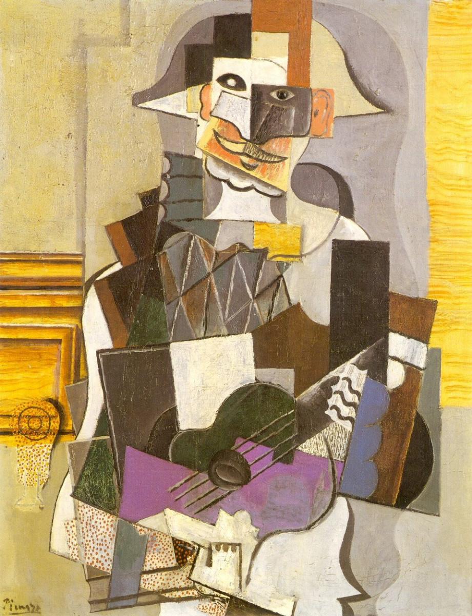 Пабло Пикассо. Арлекин, играющий на гитаре
