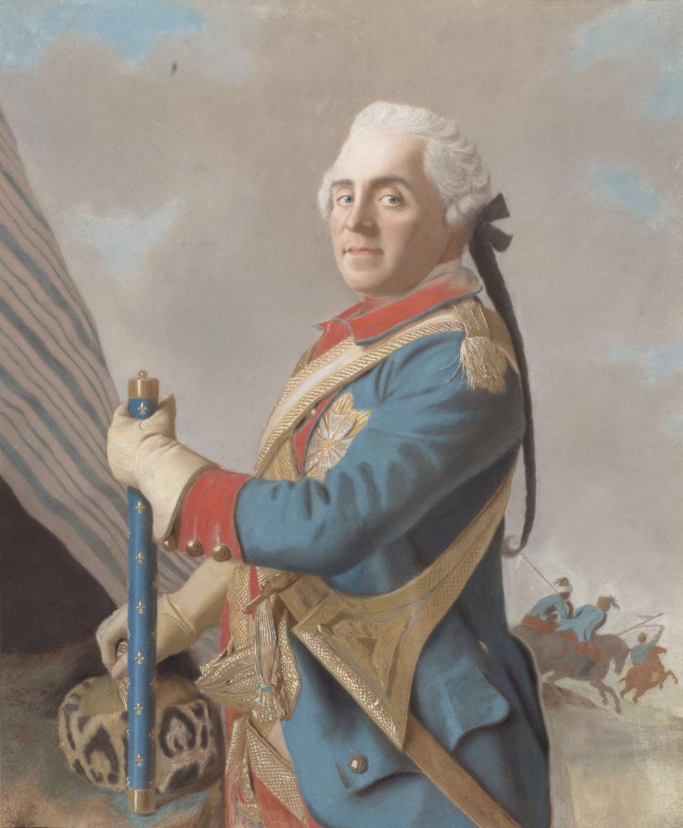 Jean-Etienne Liotard. Portret van Moritz, Graf von Sachsen