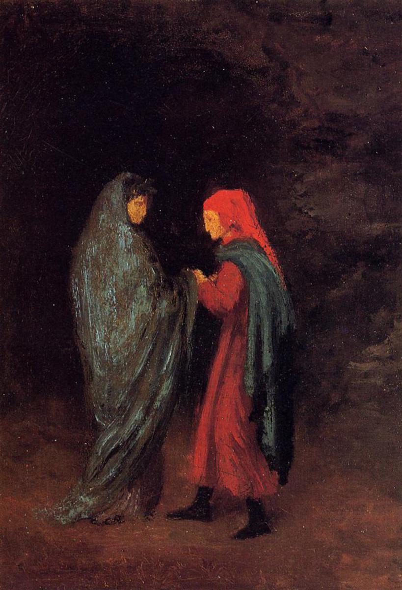 Эдгар Дега. Данте и Вергилий у входа в ад