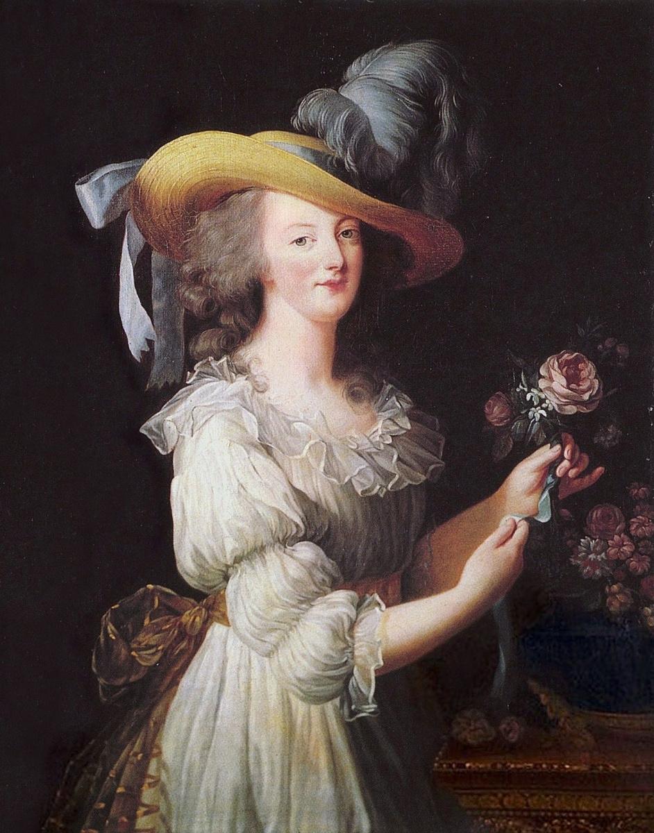 Элизабет Виже-Лебрен. Портрет Марии Антуанетты в муслиновом платье