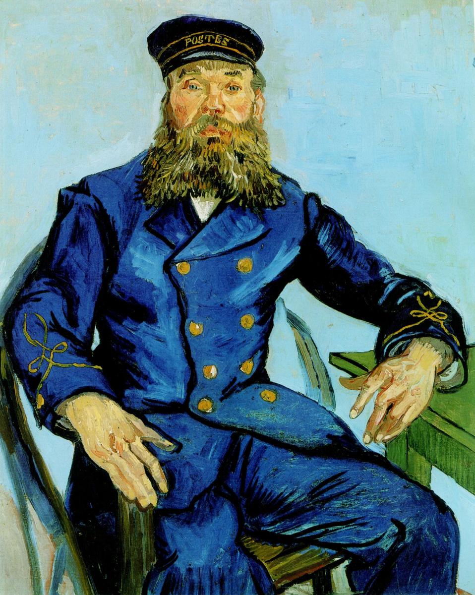 Винсент Ван Гог. Портрет почтальона Жозефа Рулена