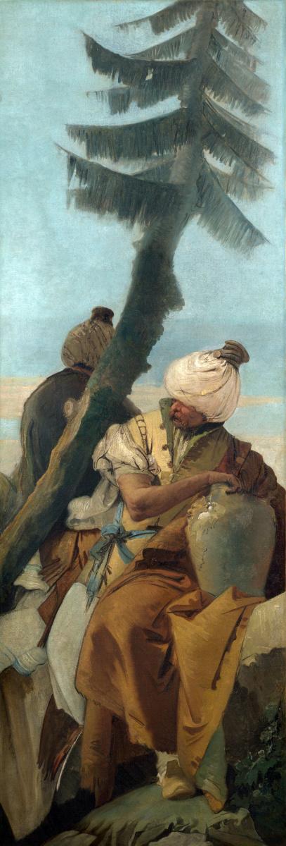 Джованни Баттиста Тьеполо. Два восточных мужчины сидят под деревом