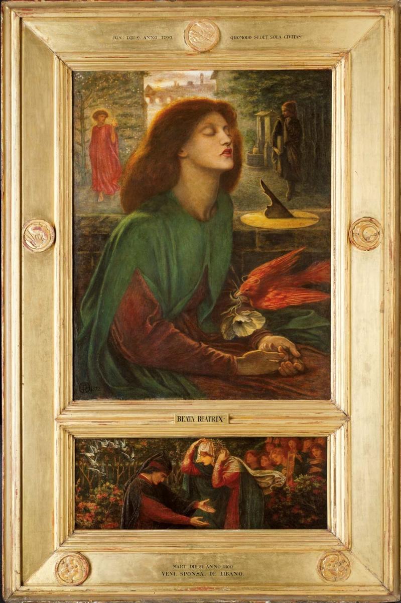 Данте Габриэль Россетти. Блаженная Беатрикс (композиция с пределлой)