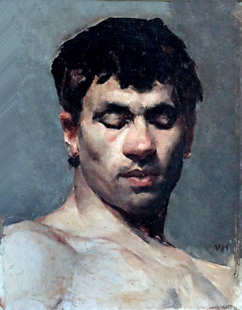 Вильгельм Хаммерсхёй. Портрет мужчины