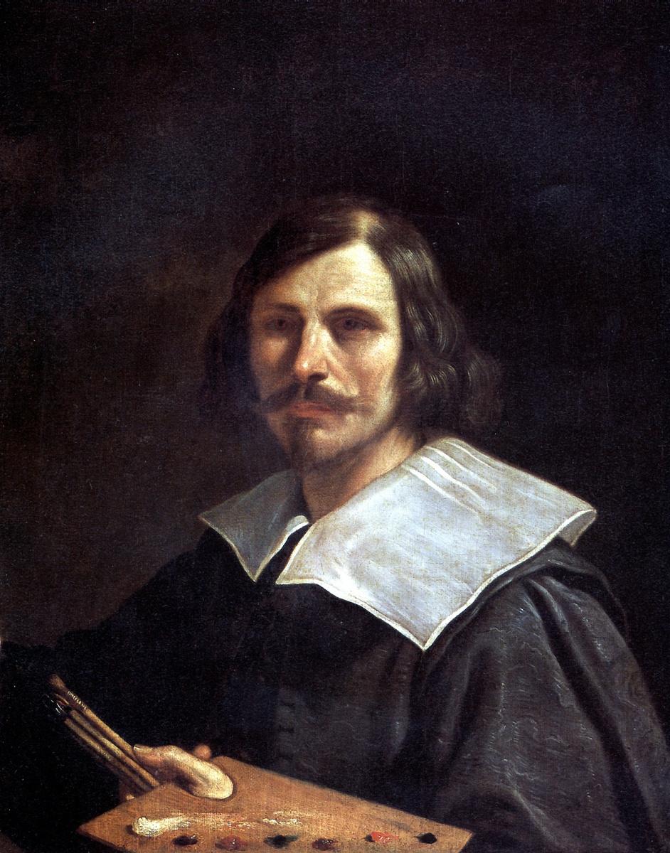 Джованни Франческо Гверчино. Портрет художника с палитрой