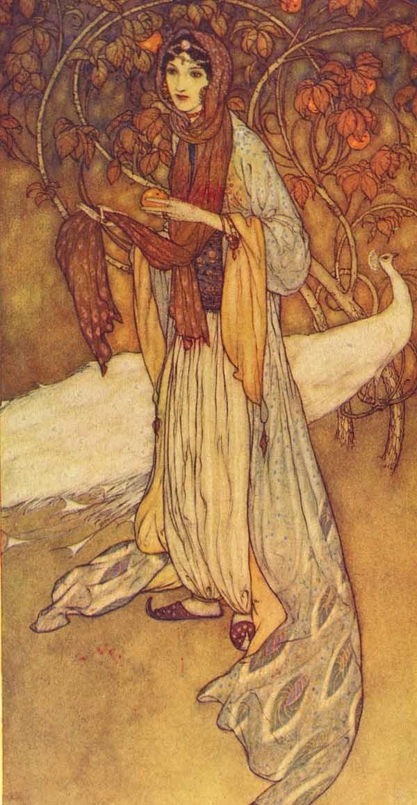 Эдмунд Дюлак. Иллюстрация к сказкам 1001 ночь. 001