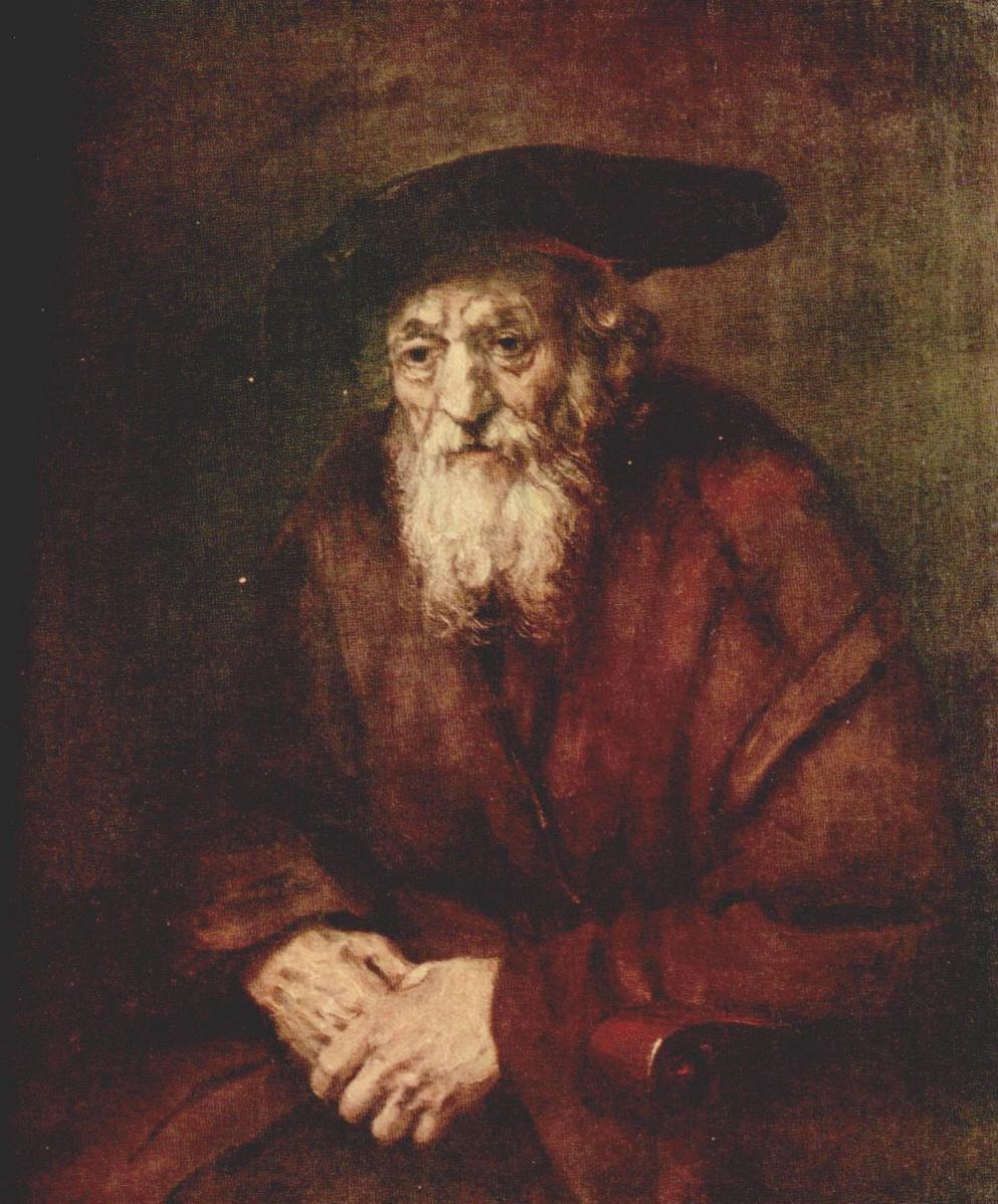 Рембрандт Ван Рейн. Портрет старика еврея