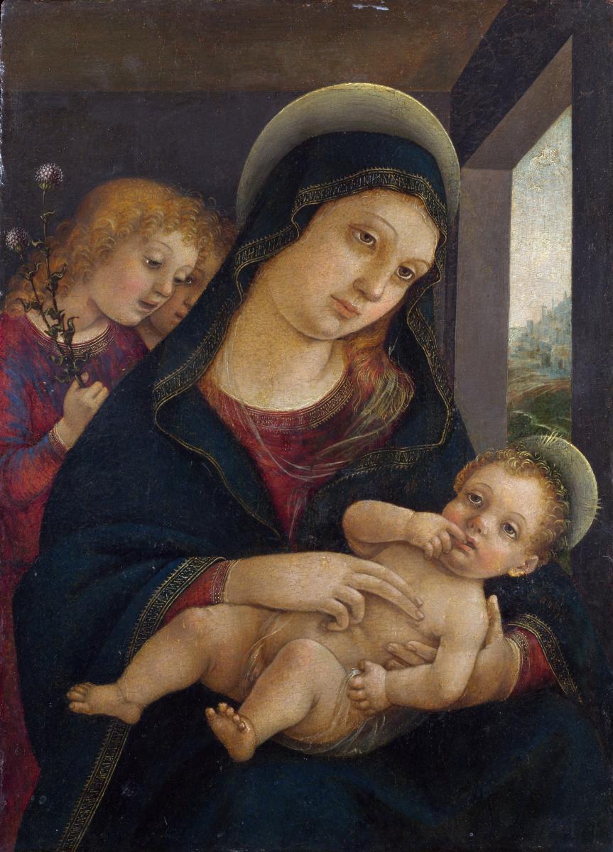Либерале да Верона. Дева с младенцем и двумя ангелами