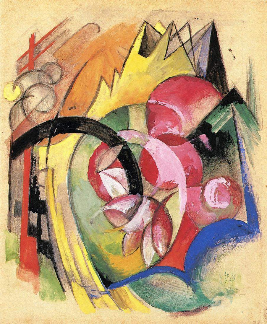 Franz Mark. Flowers (Abstract Forms)