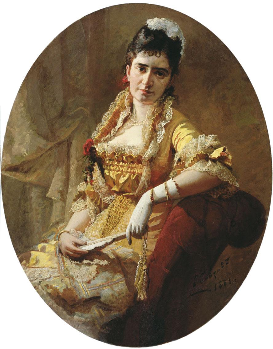 Victor Alekseevich Bobrov. Portrait of singer E. A. Lavrovskaya. Kherson Regional Art Museum. A. A. Shovkunenko, Ukraine