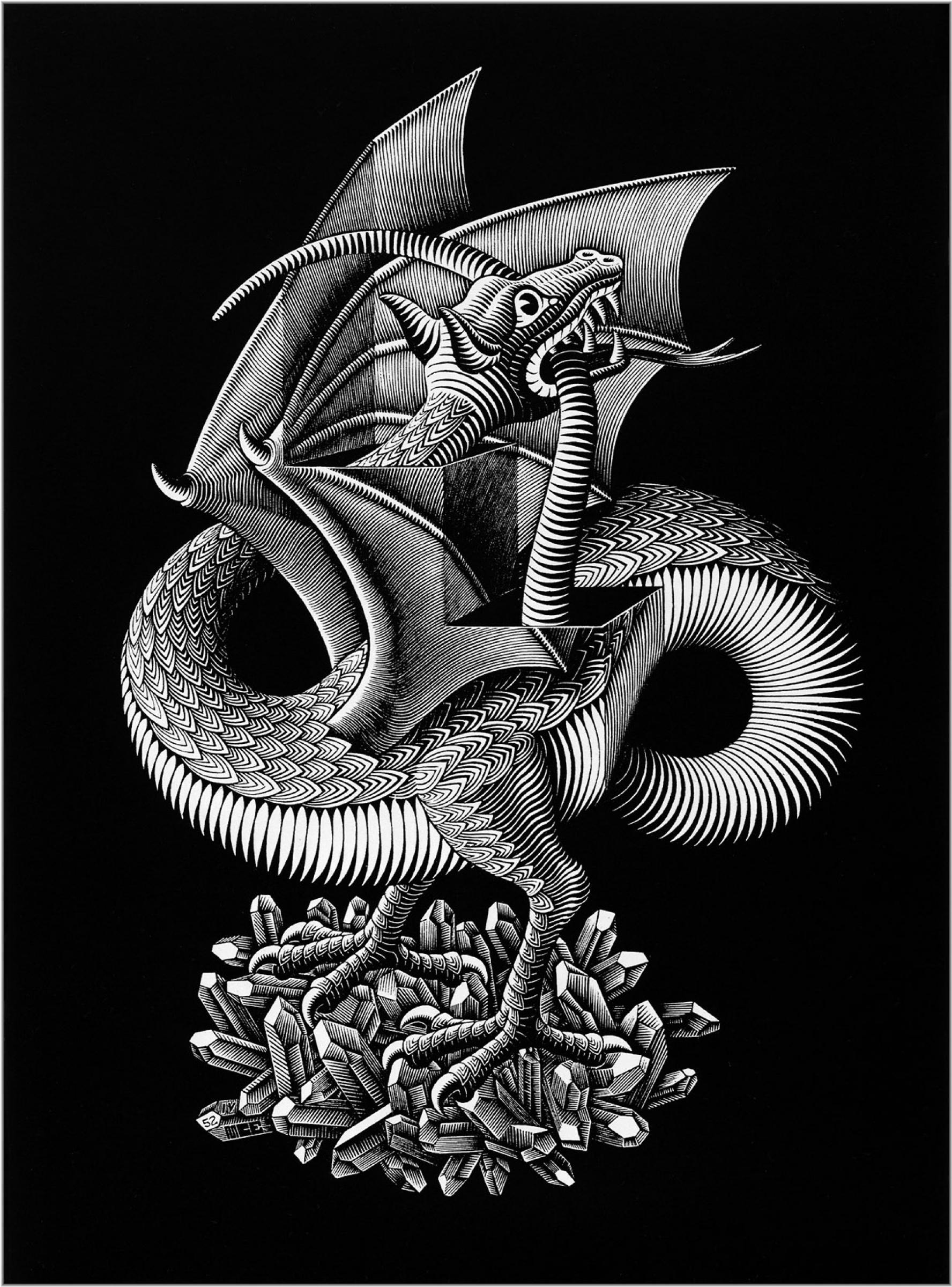 Мауриц Корнелис Эшер. Дракон