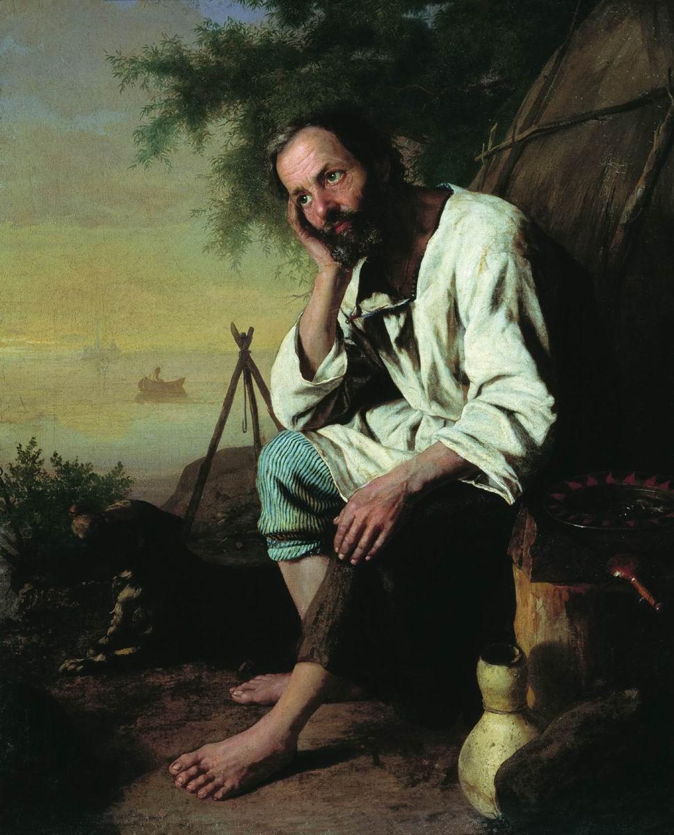 Николай Васильевич Неврев. Дед Василий. 1858