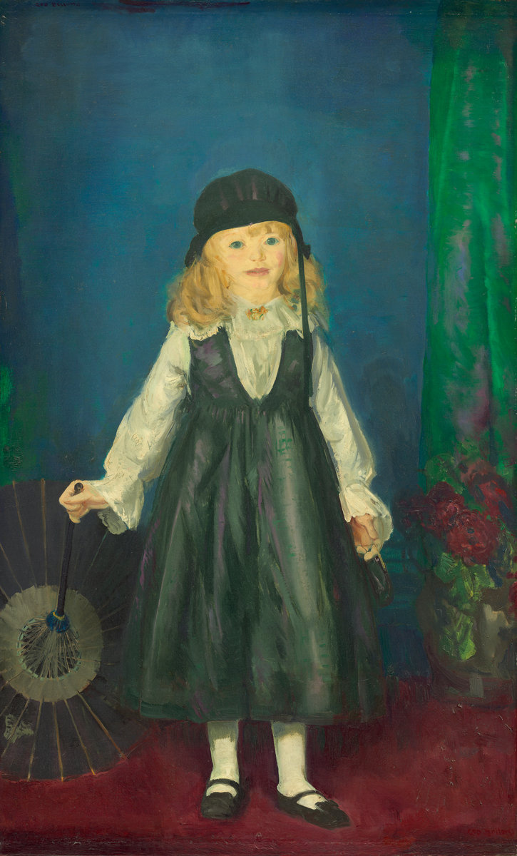 George Wesley Bellows. Anne with a Japanese parasol