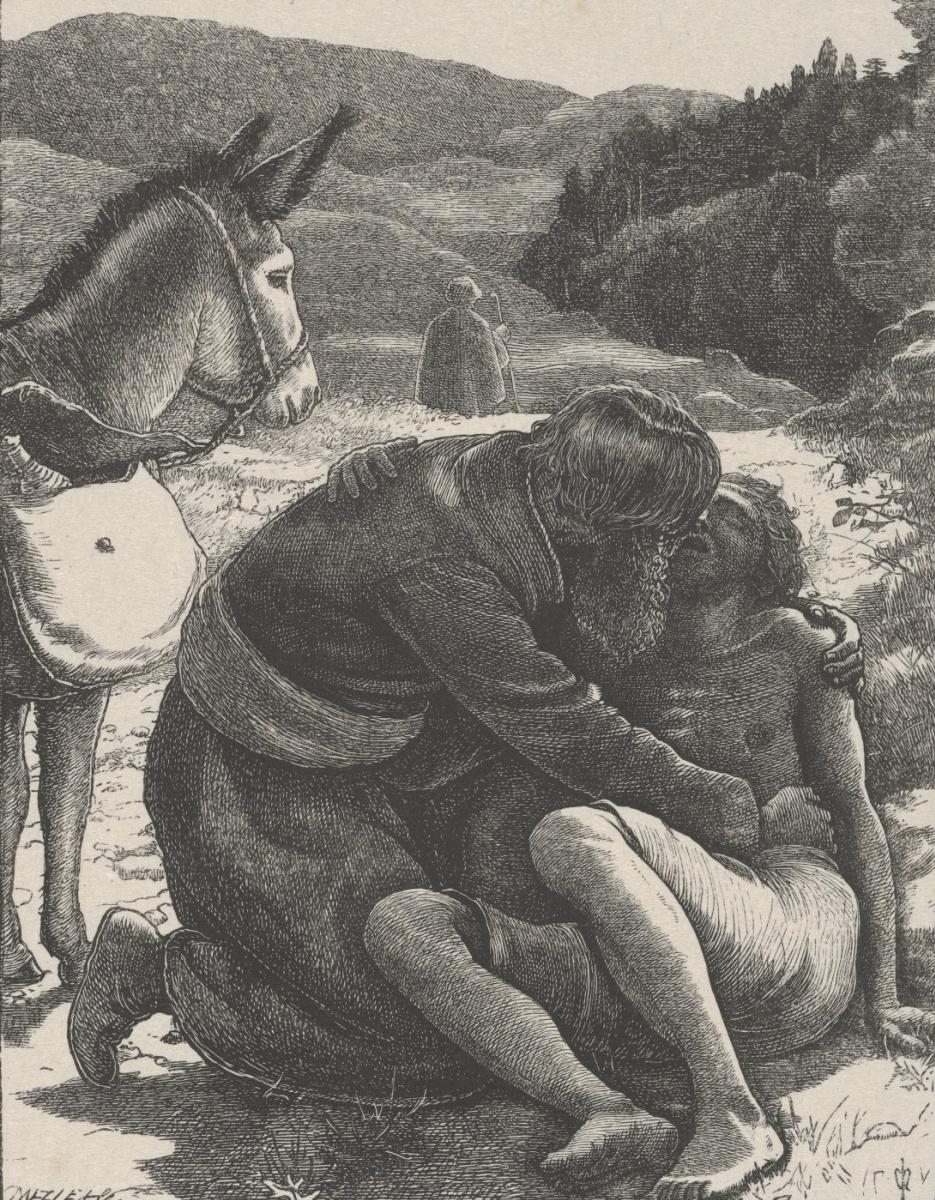 """Джон Эверетт Милле. Добрый самаритянин. """"Притчи Господа нашего и Спасителя Иисуса Христа"""""""