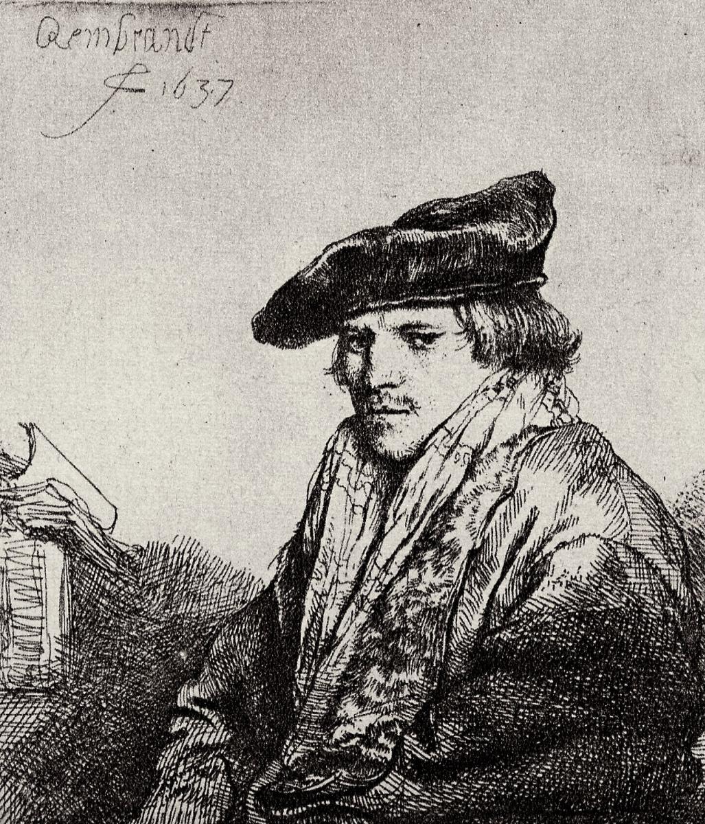 Rembrandt Harmenszoon van Rijn. Portrait of pensive young men