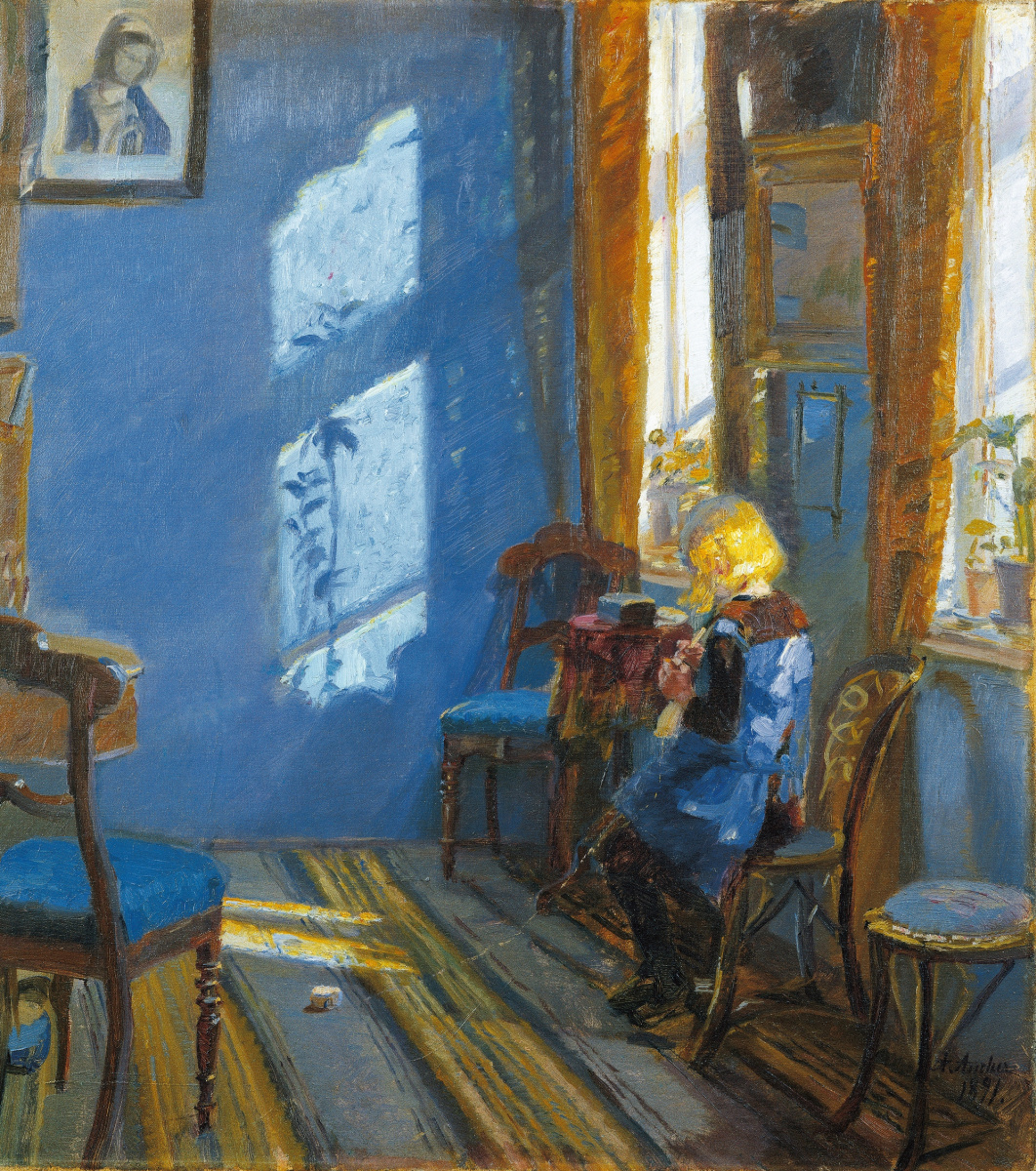 Anna Anchor. Sunlight in the blue room