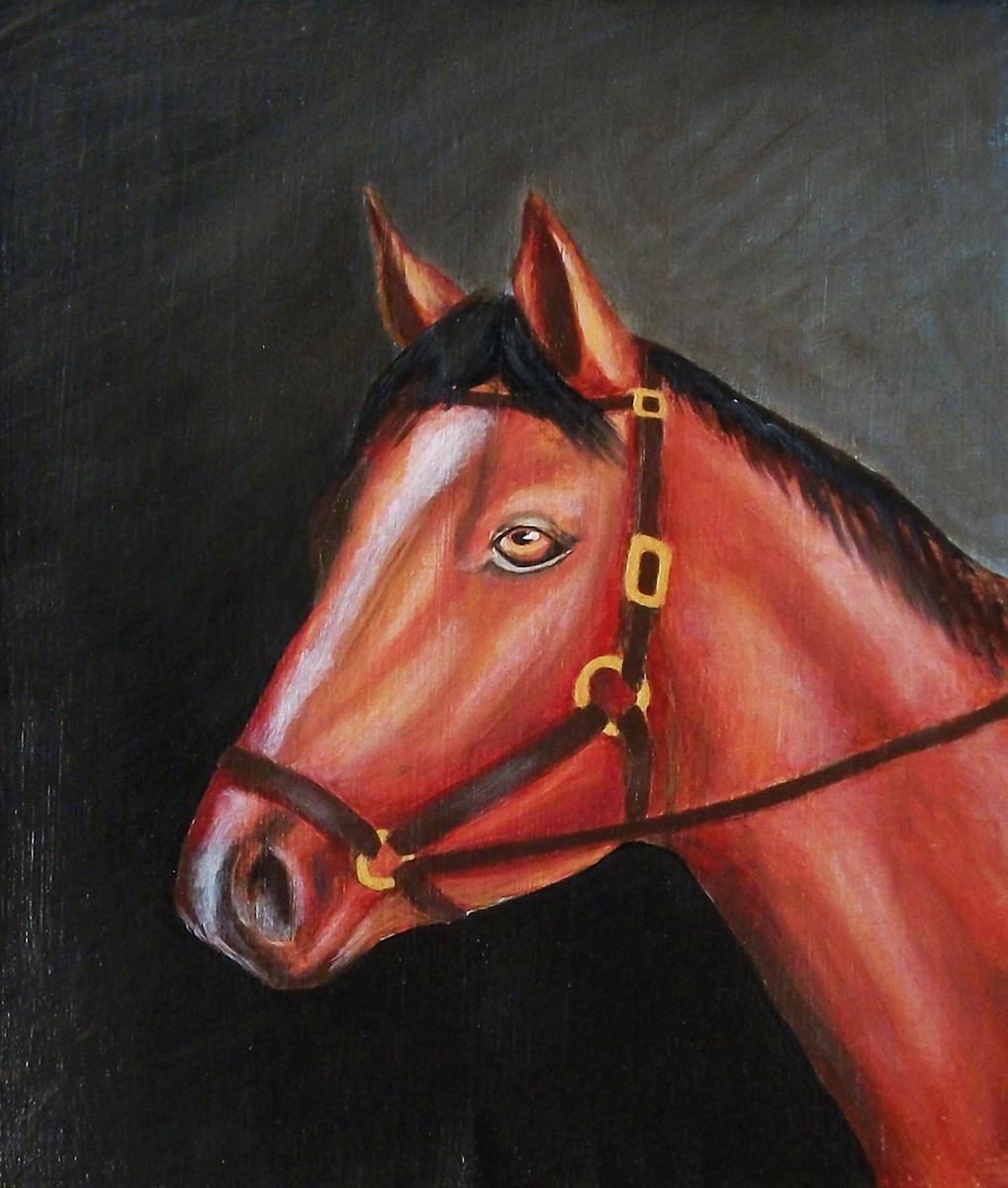 Victor Petrovich Burmin. Horse's head