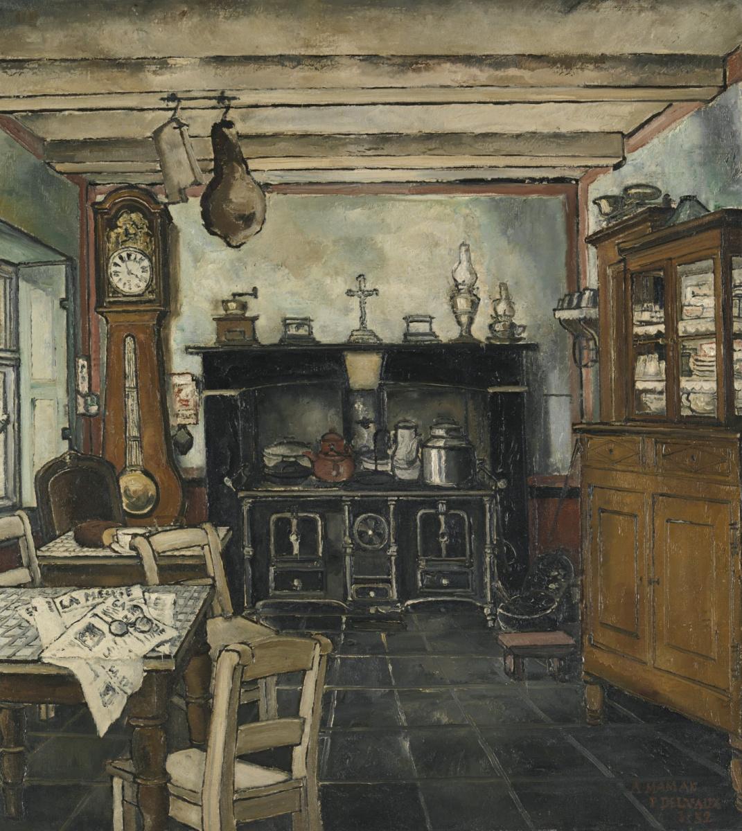 Paul Delvo. Kitchen. 1932