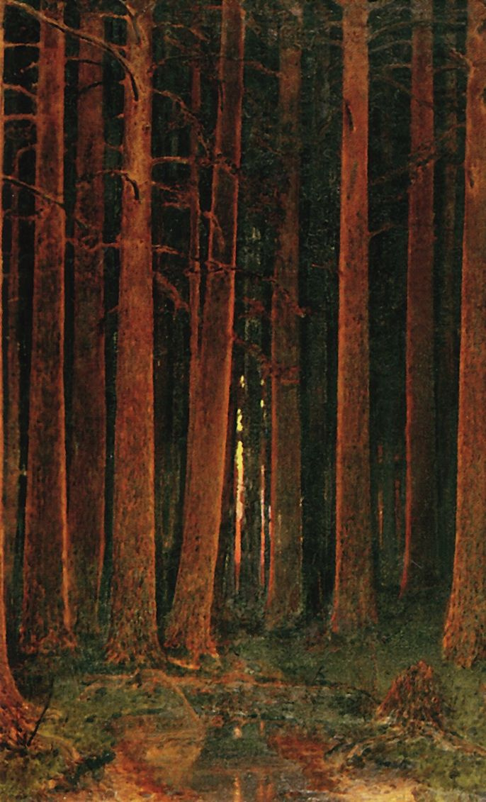 Архип Иванович Куинджи. Закат солнца в лесу