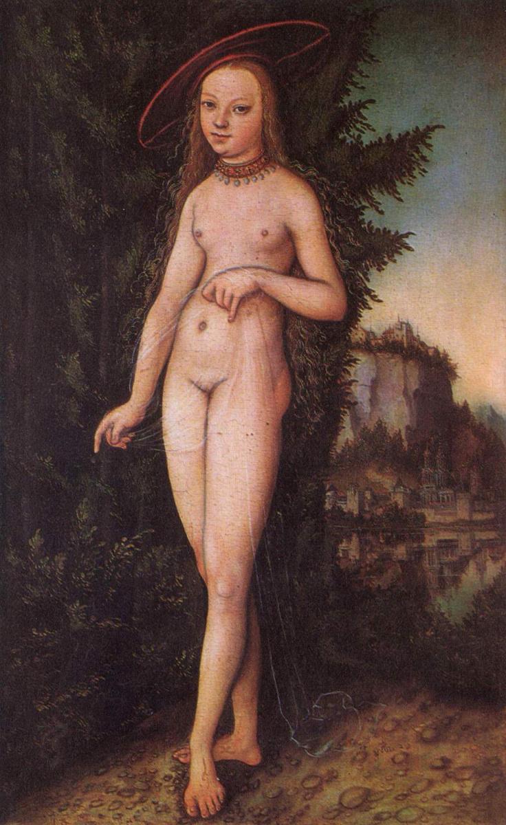 Лукас Кранах Старший. Венера в пейзаже