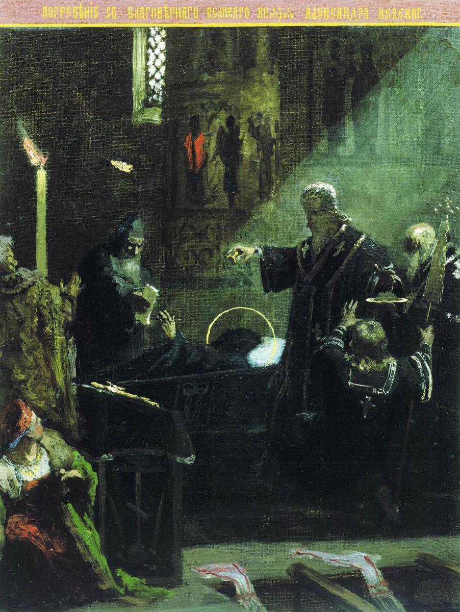 Генрих Ипполитович Семирадский. Погребение Александра Невского (эскиз)