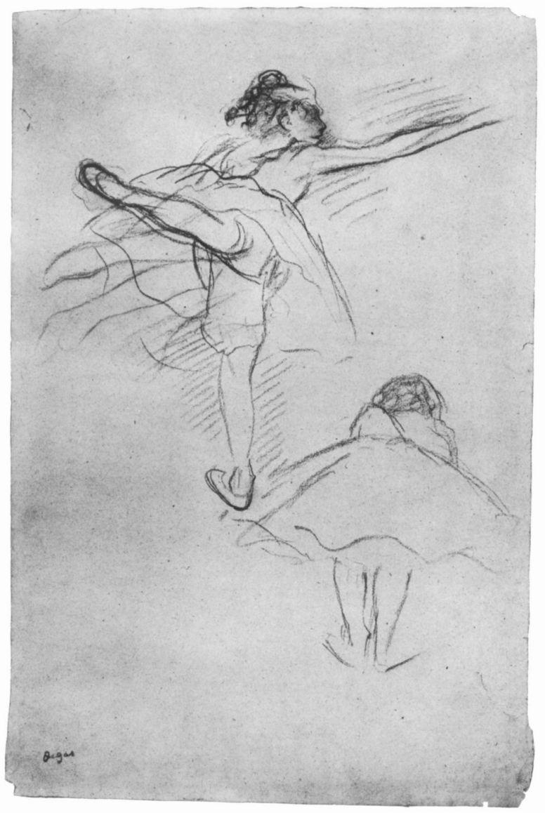 Эдгар Дега. Две балерины (эскиз)