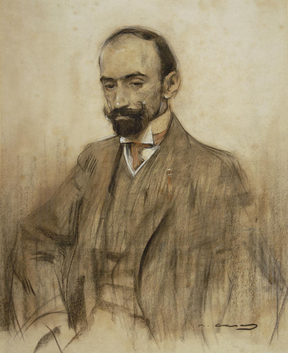 Ramon Casas i Carbó. Portrait of Jacinto Benavente