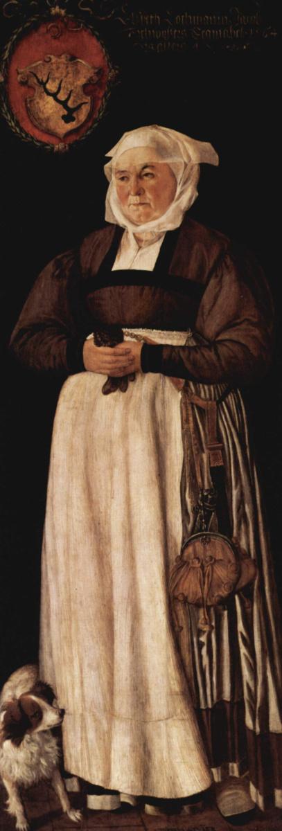 Тобиас Штиммер. Портрет Эльсбет Лохман, жены цюрихского чиновника Якоба Швитцера