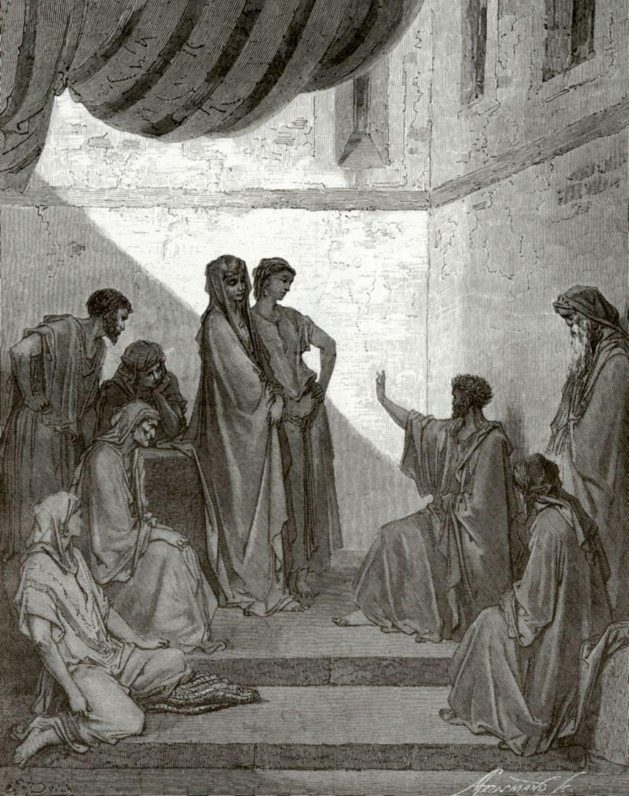 Поль Гюстав Доре. Апостол Петр в доме Корнилия
