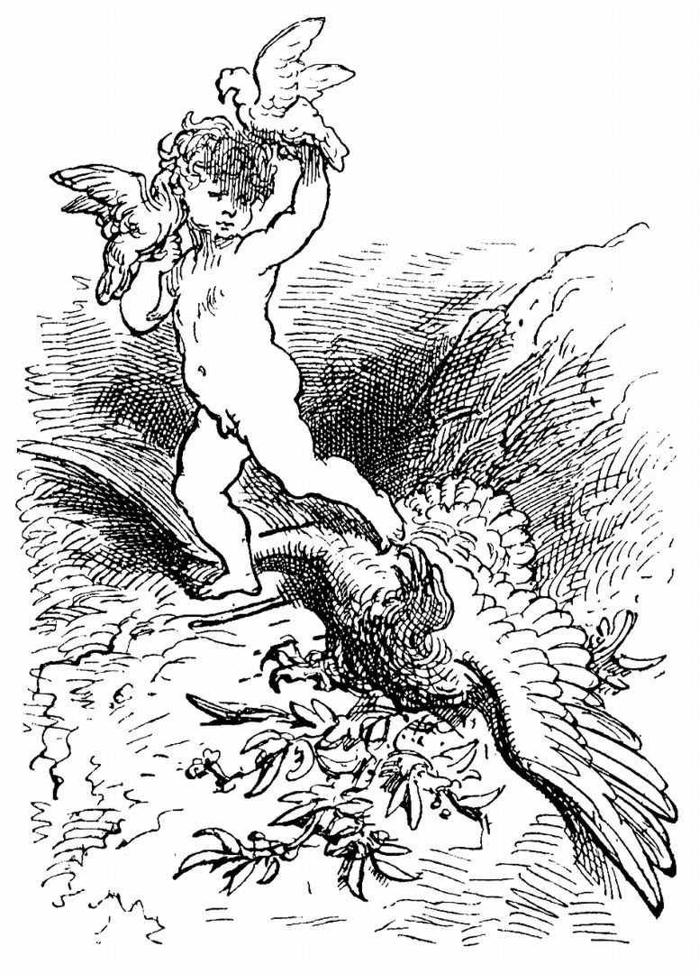 """Поль Гюстав Доре. Иллюстрация к поэме Ариосто """"Неистовый Роланд"""""""