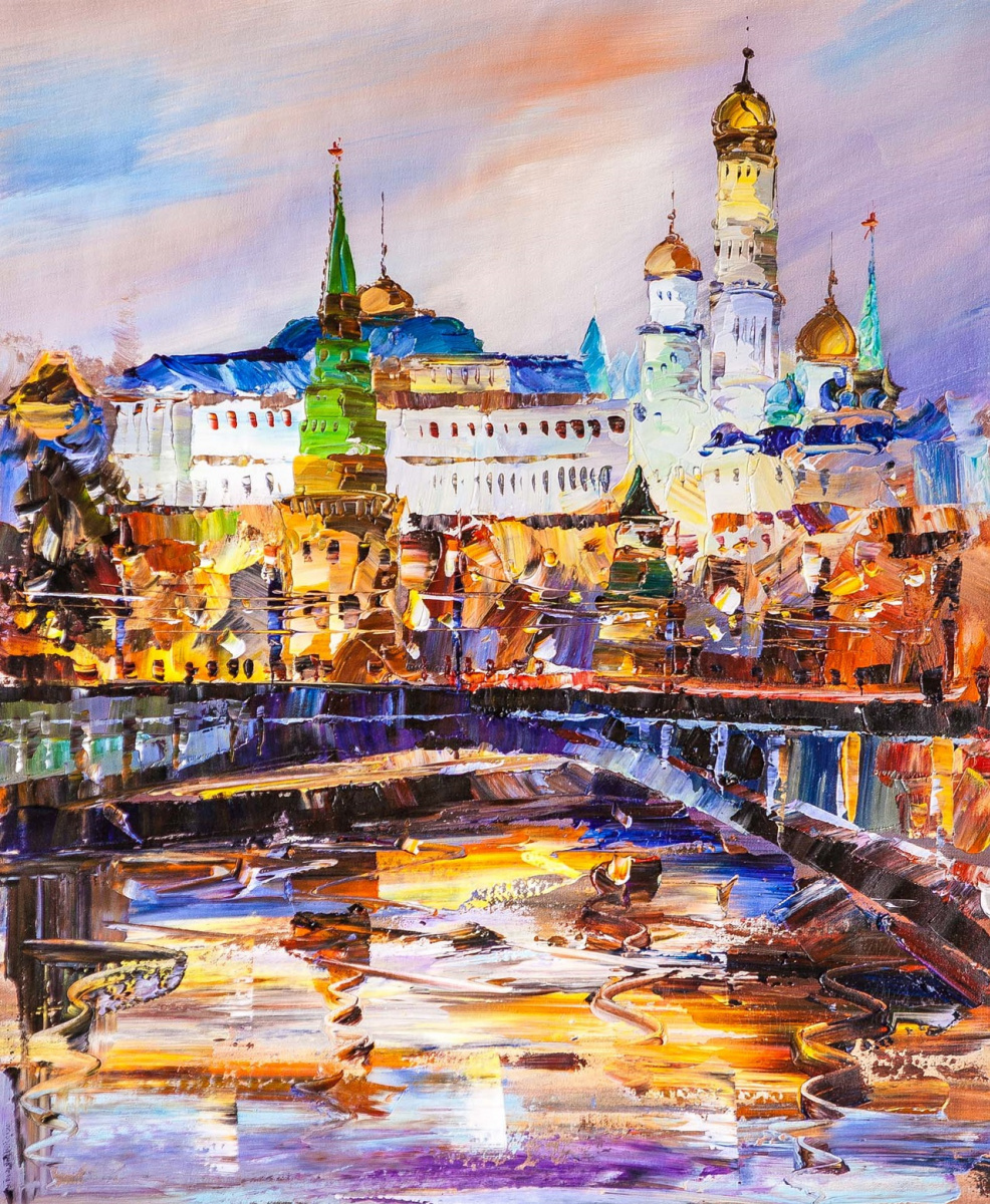 Jose Rodriguez. Вид на Кремль через Большой Каменный мост. Рассвет