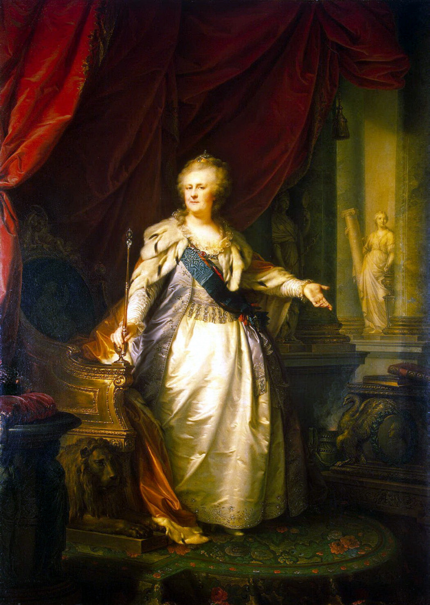 Иоганн-Баптист Старший Лампи. Портрет Екатерины II