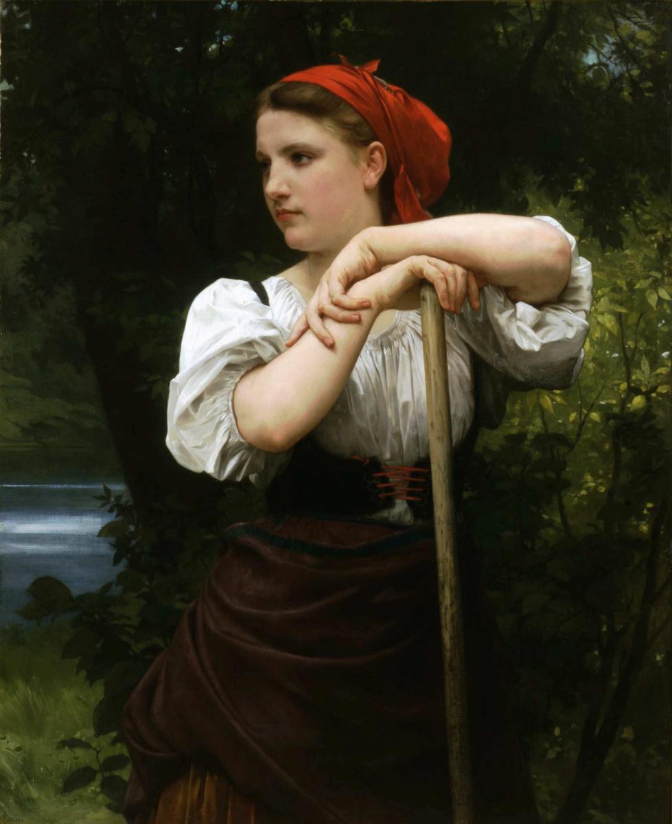 Адольф Бугро Вильям. Ворошильщица сена. 1869