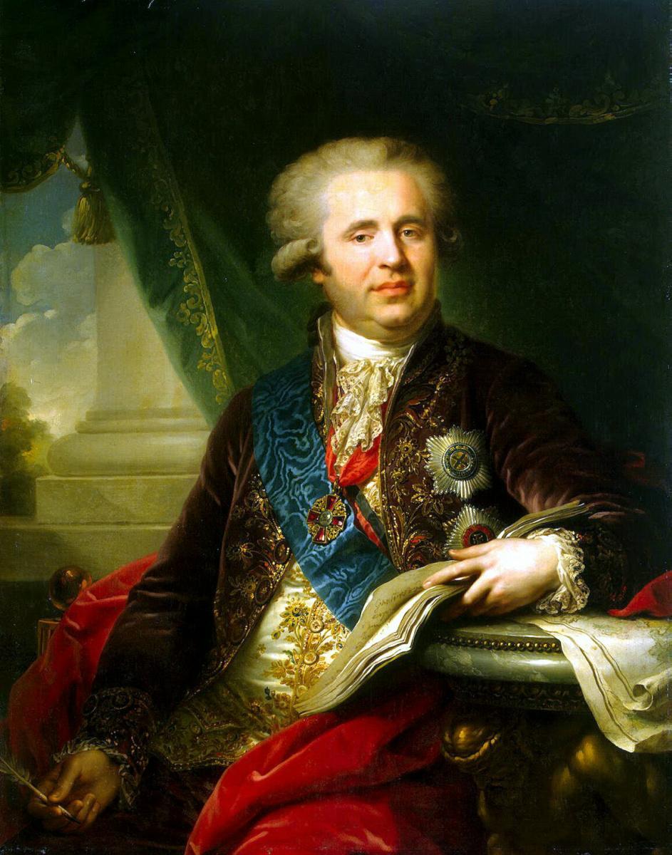 Иоганн Баптист Лампи (старший). Портрет князя Безбородко