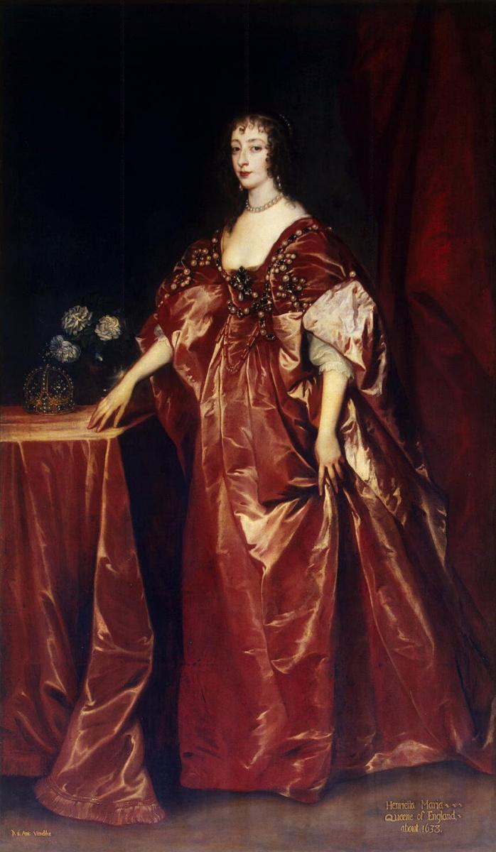 Антонис ван Дейк. Портрет королевы Генриетты-Марии